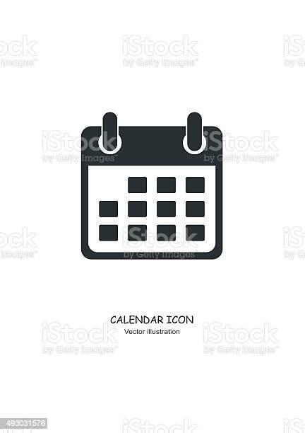 Calendar icon in Flat design style. Vector Illustration