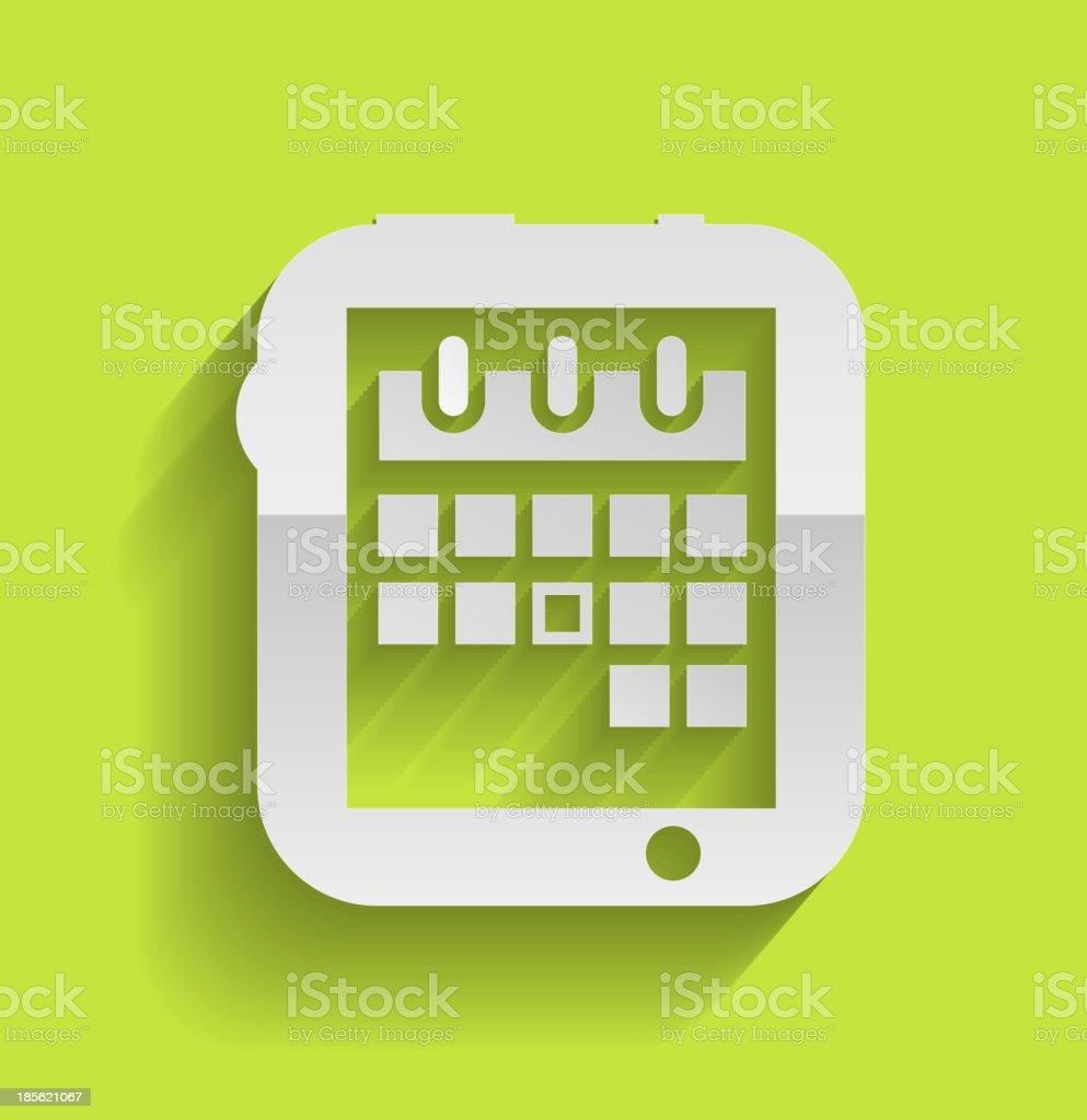 Calendar icon modern flat design royalty-free stock vector art