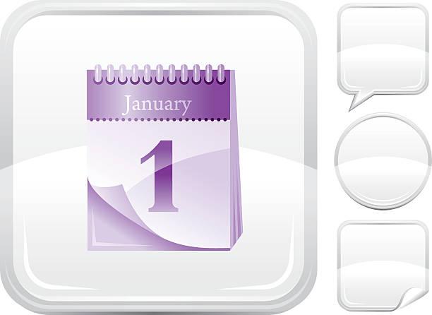 Kalender-Symbol auf Silber