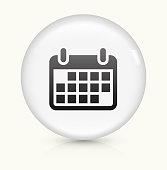 Calendar icon on white round vector button