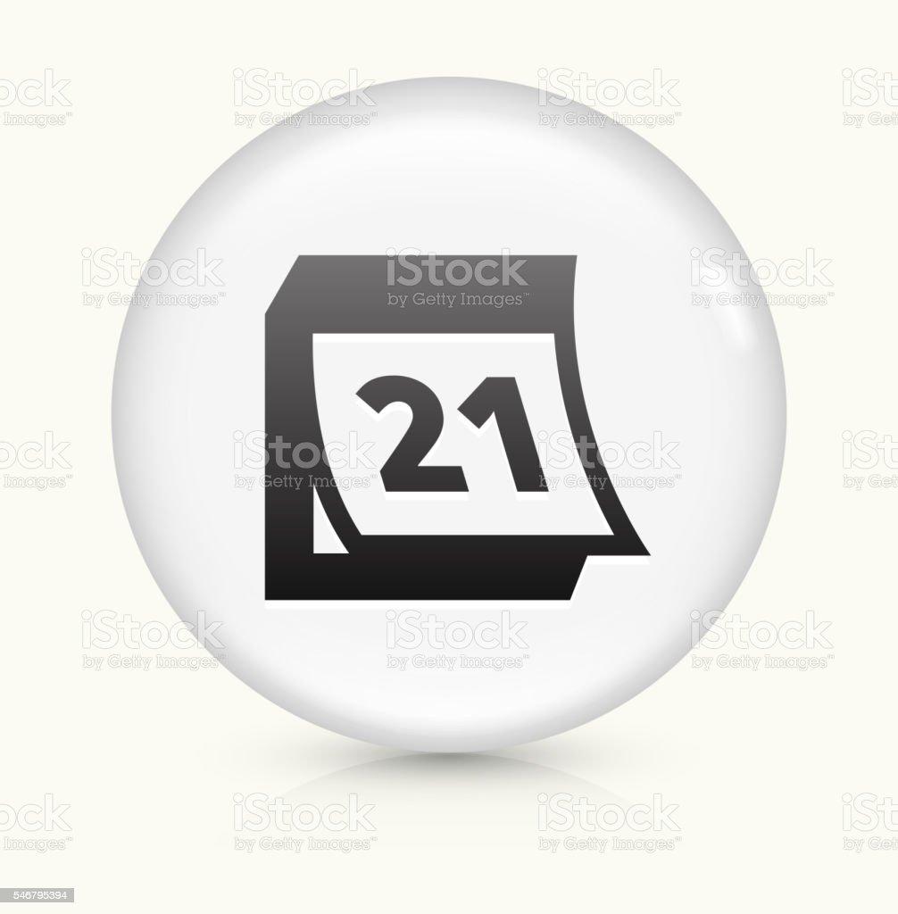 Calendario Icona.Calendario Icona Su Bianco Vettore Rotondo Con Bottoni