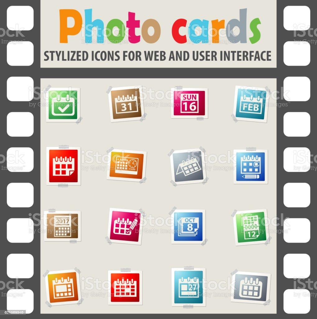calendar icon set calendar icon set – cliparts vectoriels et plus d'images de bureau - lieu de travail libre de droits