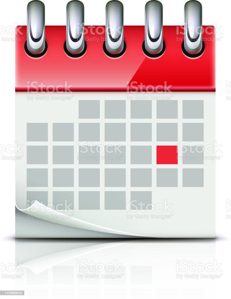 calendar icon royalty-free stock vector art