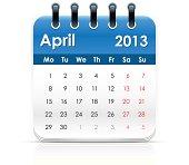 Vector calendar icon.