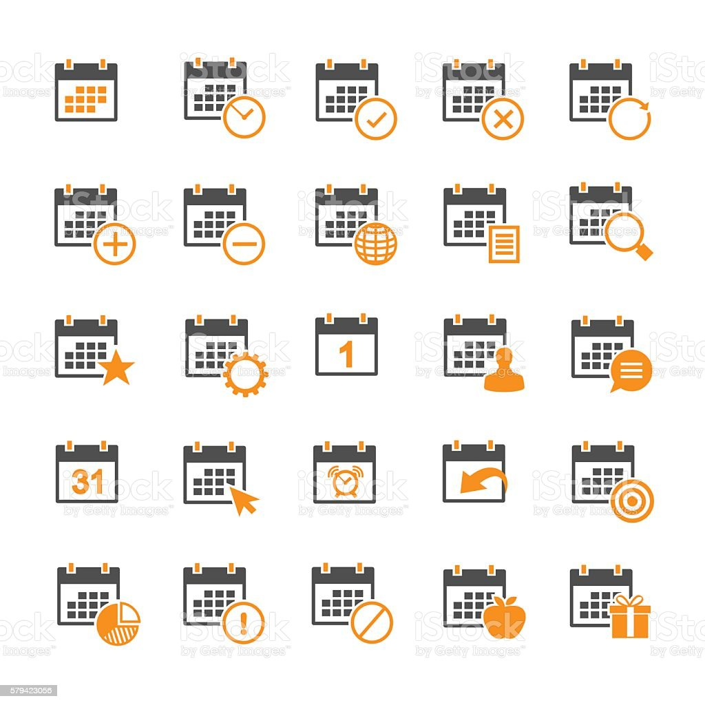 Calendar icon vector art illustration