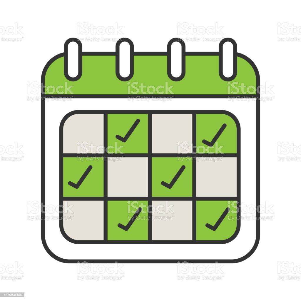 Ícone de calendário - ilustração de arte em vetor