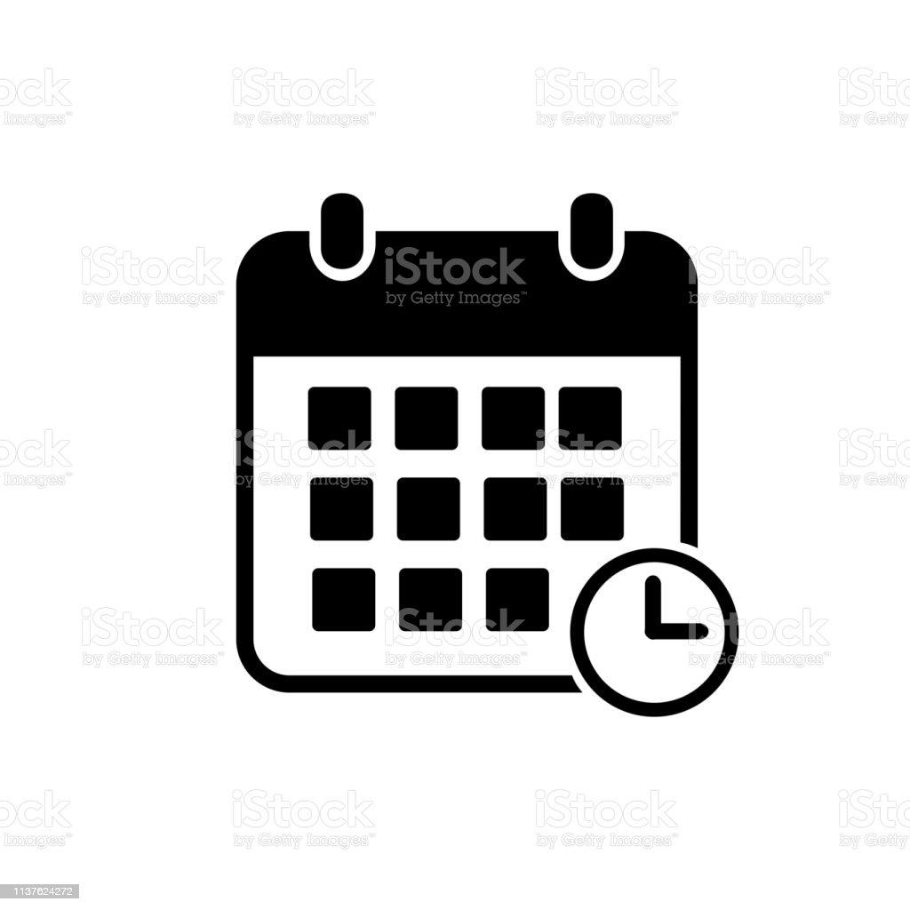 Simbolo De Calendario.Vetores De Ilustracao Do Vetor Do Icone Do Calendario