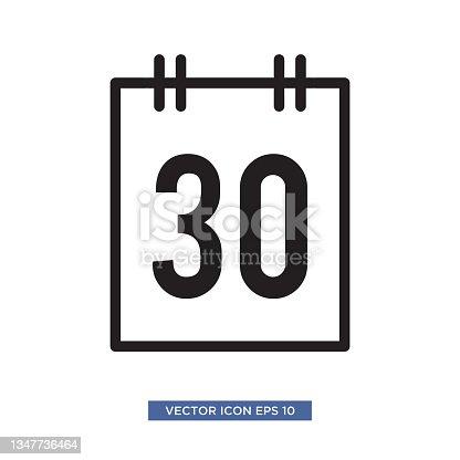 istock Calendar icon vector illustration 1347736464