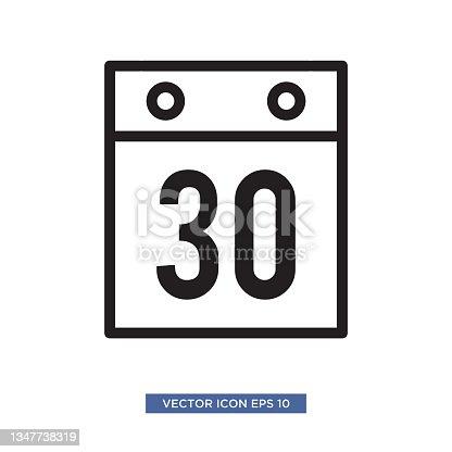 istock Calendar icon vector illustration 1347738319