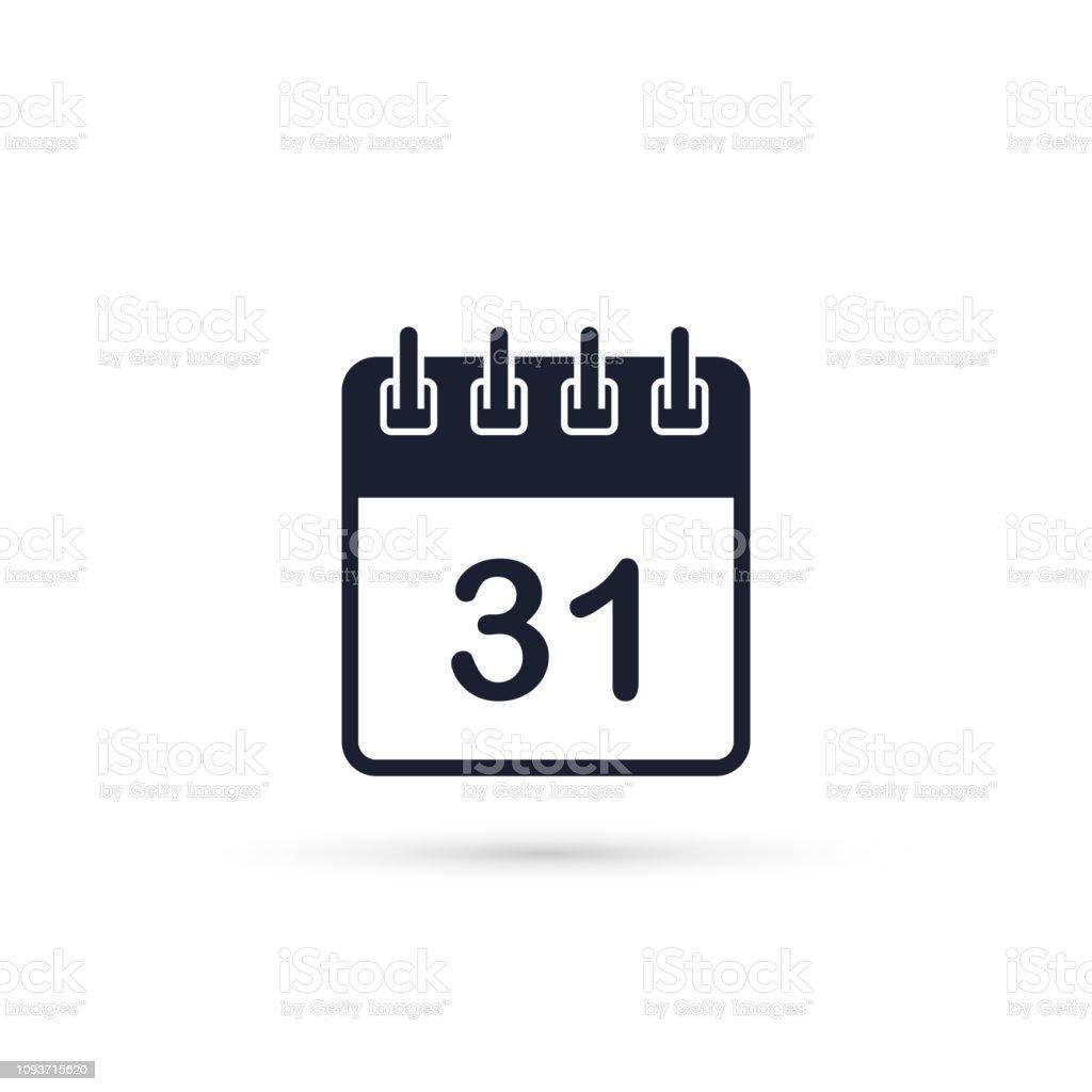 Calendario Vectorizado.Ilustracion De Icono Del Calendario Hoja Del Calendario