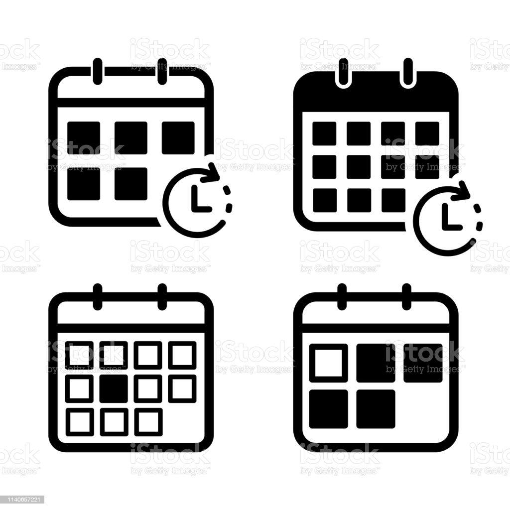 Calendario Vectores.Ilustracion De Calendario Icono Conjunto De Vectores Y Mas