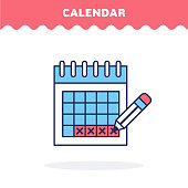 Calendar icon, vector. Flat design. Advantage icon.
