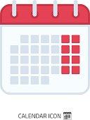 Calendar icon vector.