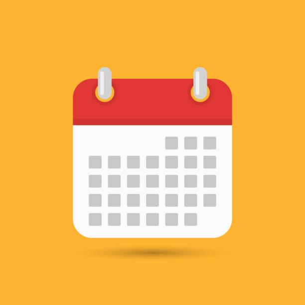 stockillustraties, clipart, cartoons en iconen met kalenderpictogram, vector - date