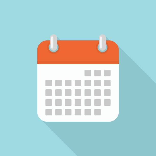 Calendar Icon Blue : Royalty free calendar clip art vector images