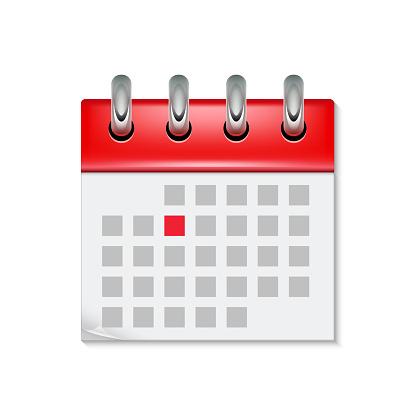 Icône De Calendrier Avec Le Symbole De Lheure Du Mois Plat Agenda Jour  Rappel Événement Calendrier Design Bouton Vecteurs libres de droits et plus  d'images vectorielles de Affaires - iStock