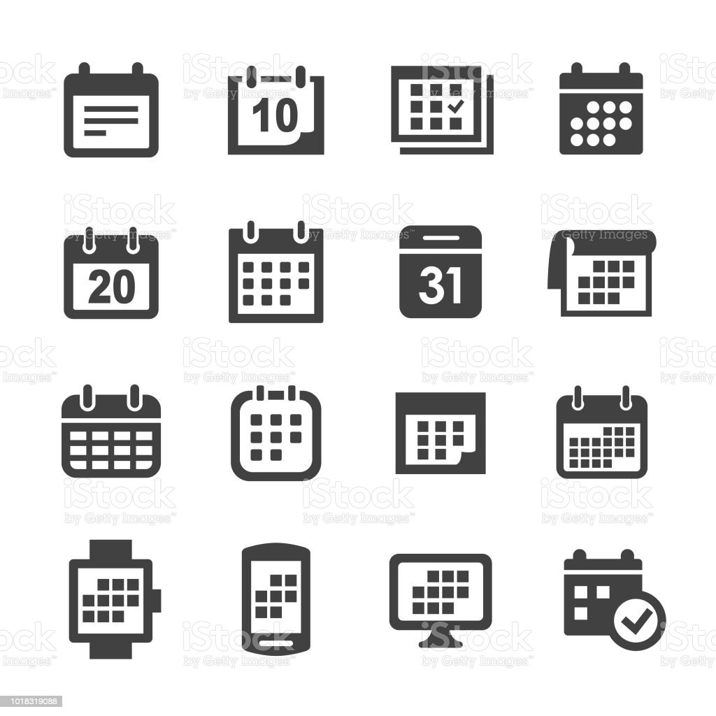 Calendrier Icons - Acme série - Illustration vectorielle