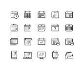istock Calendar Icons - Classic Line Series 1193464029
