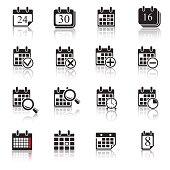 Calendar Icons & Symbols. Abstract vector illustration.