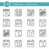 16 Calendar Icons