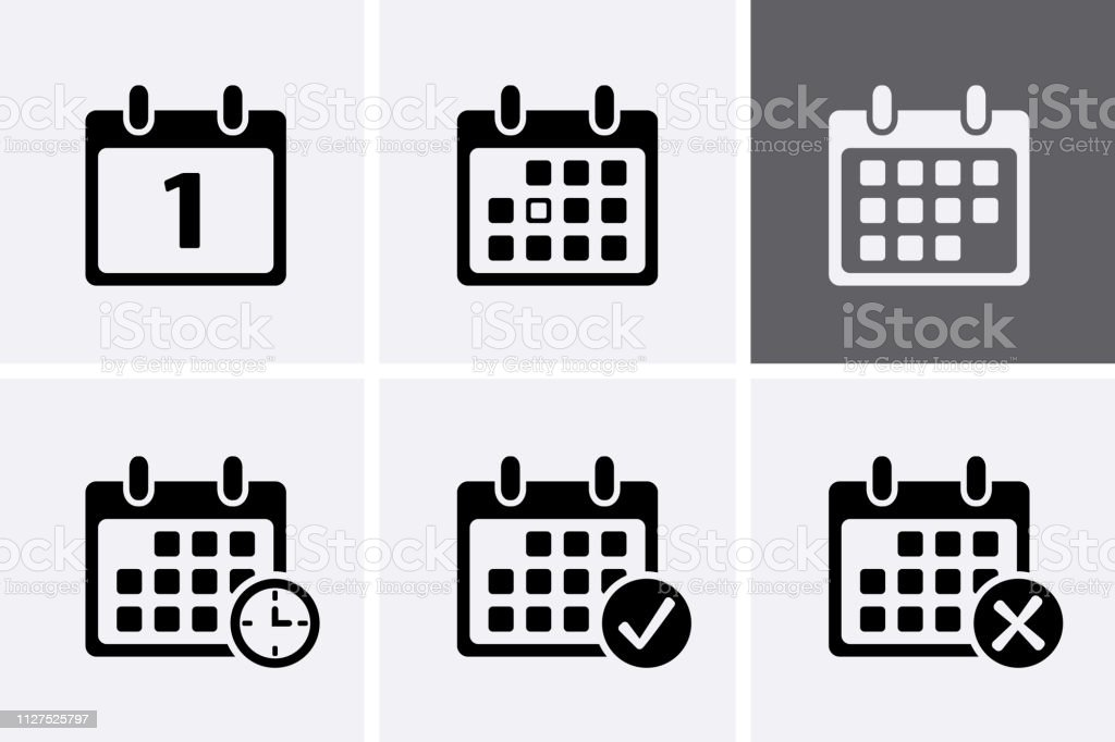 Calendar Icons Vector. royalty-free calendar icons vector stock illustration - download image now