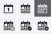 Calendar Icons Vector. Reminder time icon