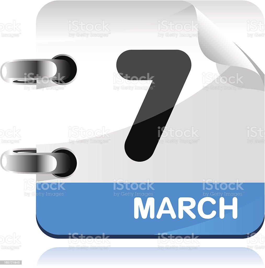 Calendar in blue icon royalty-free stock vector art