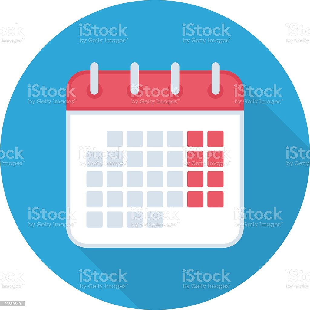 Calendar isolated icon. vector art illustration