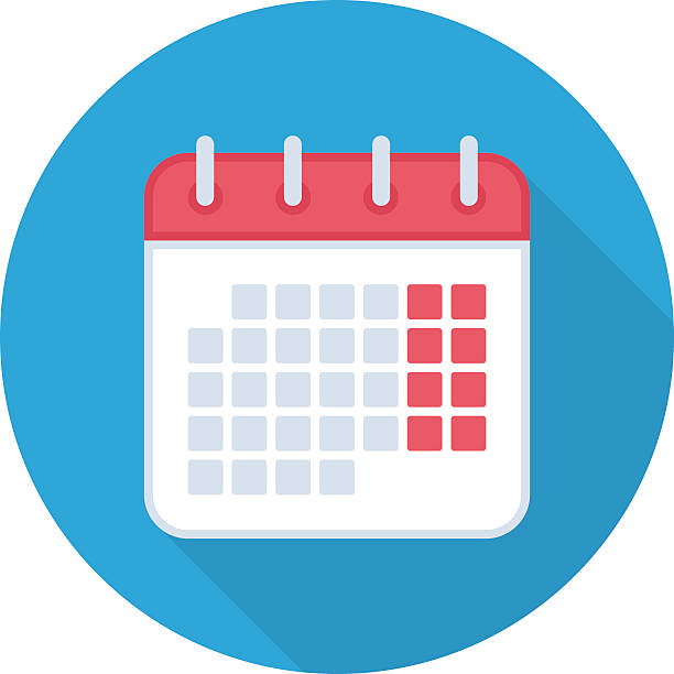 Calendar isolated icon. - Illustration vectorielle