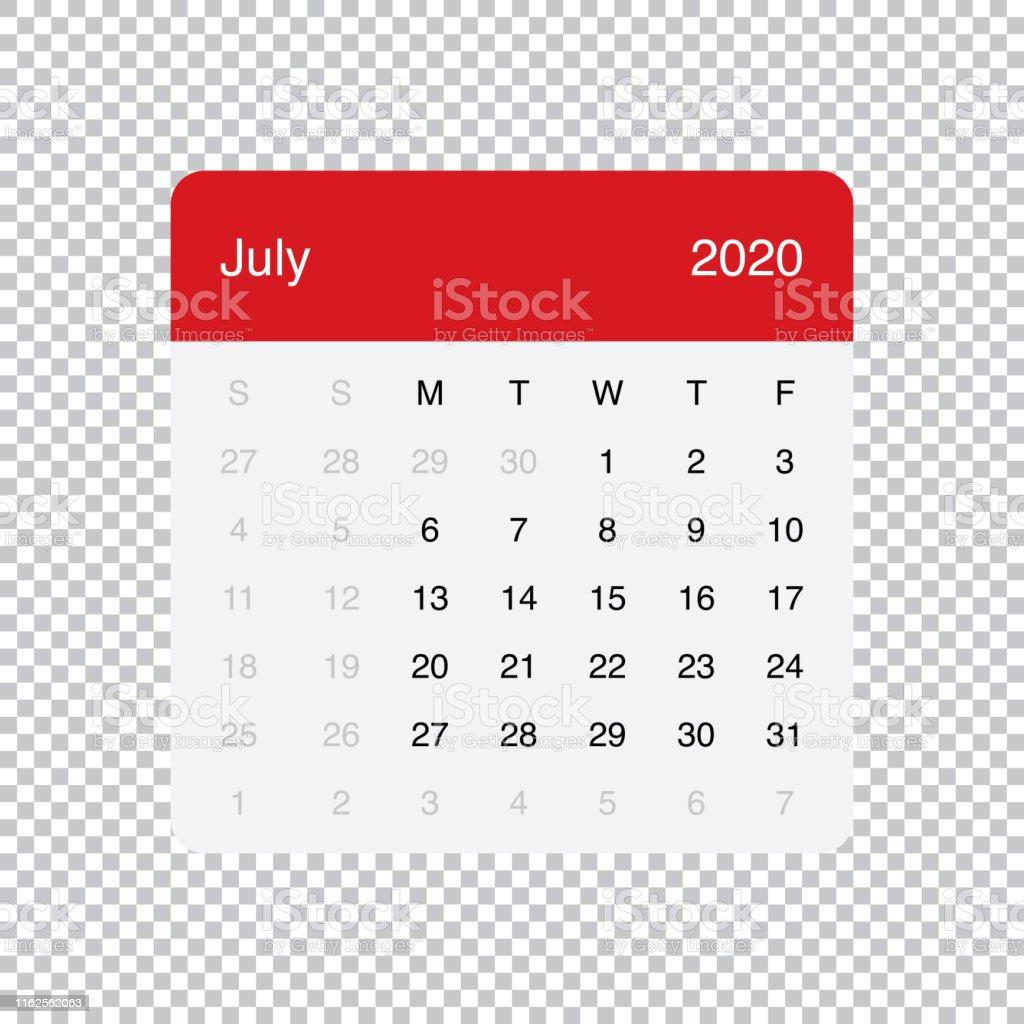 Calendrier Juillet2020.Calendrier Juillet 2020 Clean Minimal Table Simple Design La
