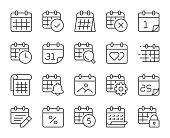 istock Calendar - Light Line Icons 1295018538