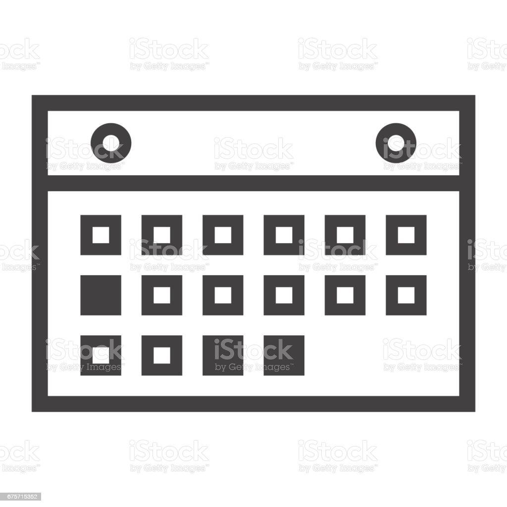 日曆行圖示、 移動和網站按鈕,向量圖形,在白色的背景下,eps 10 的線性模式。 免版稅 日曆行圖示 移動和網站按鈕向量圖形在白色的背景下eps 10 的線性模式 向量插圖及更多 事件 圖片