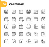 istock Calendar Line Icons. Editable Stroke. Pixel Perfect. For Mobile and Web. Contains such icons as Calendar, Appointment, Holiday, Clock, Time, Deadline. 1192922634