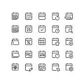 istock Calendar Line Icons Editable Stroke 1290110508
