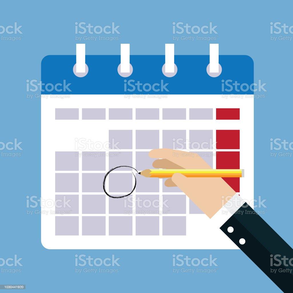 Calendar marks vector art illustration