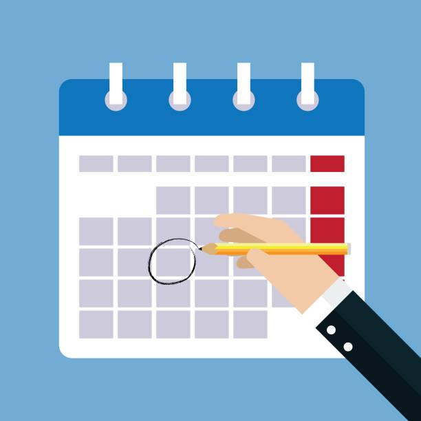 calendar marks - calendar stock illustrations, clip art, cartoons, & icons