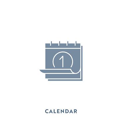 Calendar Mono Color Flat Icon. Pixel Perfect.
