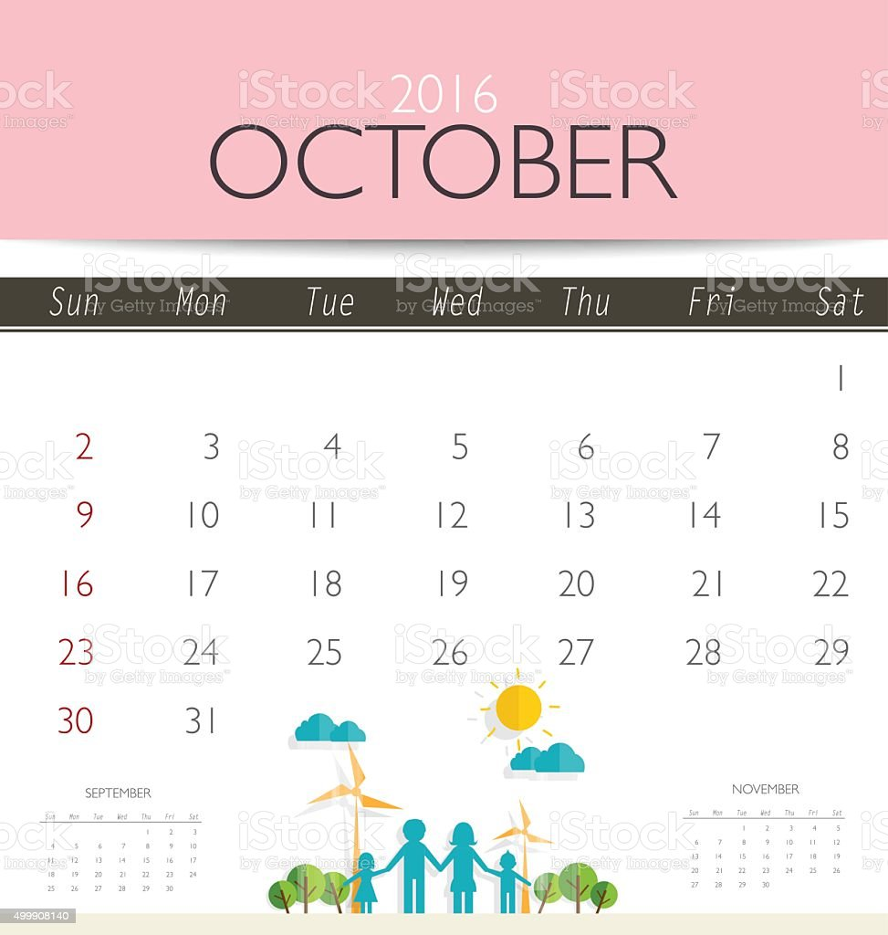2016 calendar monthly calendar template for october stock vector art 2016 calendar monthly calendar template for october royalty free 2016 calendar monthly calendar accmission Images