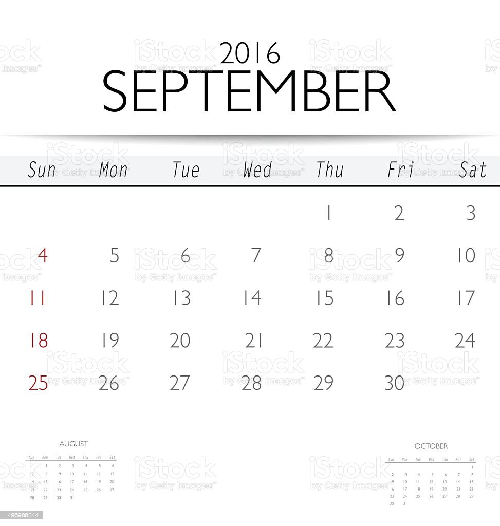 Free Monthly Calendar 2016 Template from media.istockphoto.com