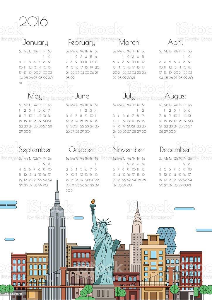 Calendar on city background, vector vector art illustration