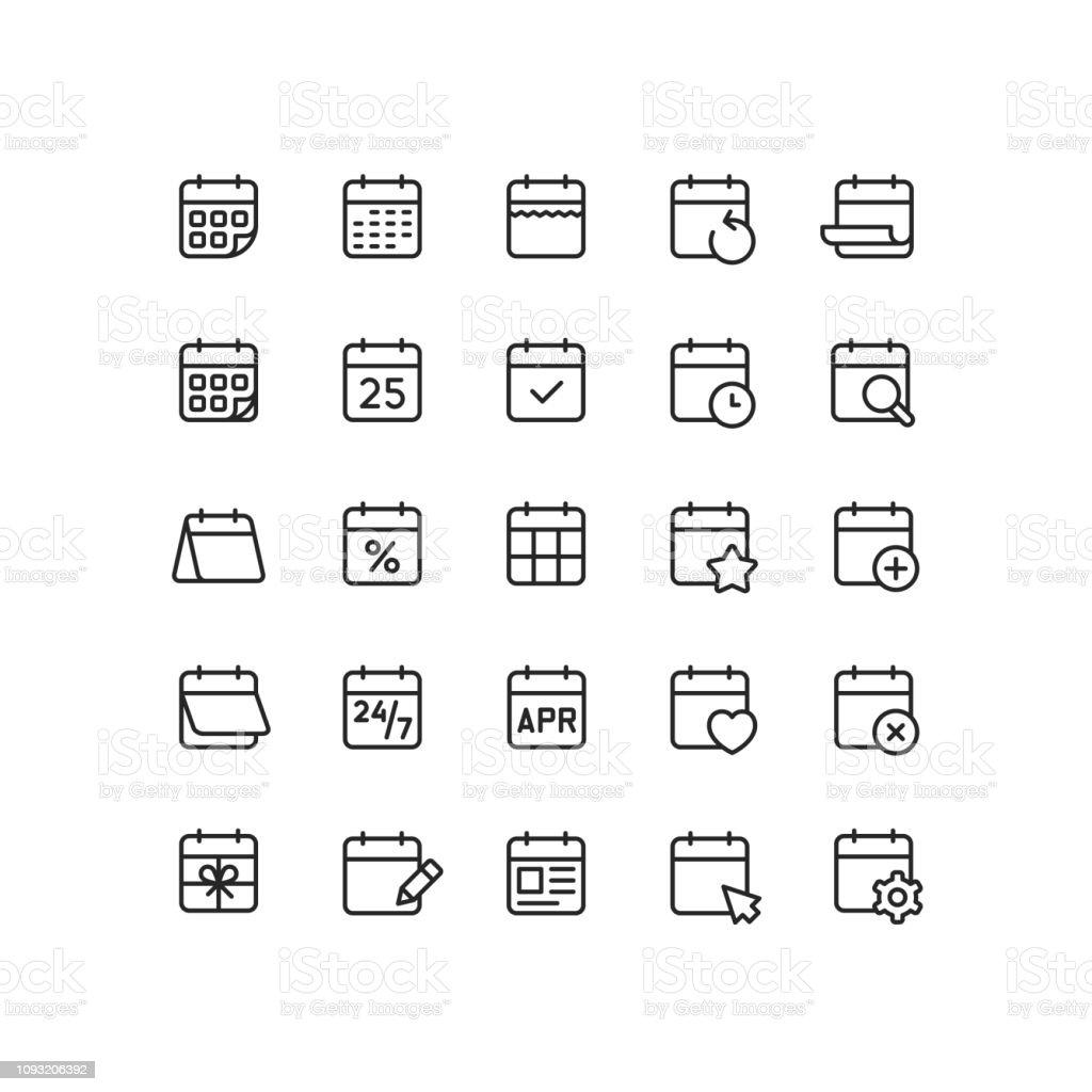 Icônes d'aperçu calendrier icônes daperçu calendrier vecteurs libres de droits et plus d'images vectorielles de 24 hrs - petite phrase libre de droits