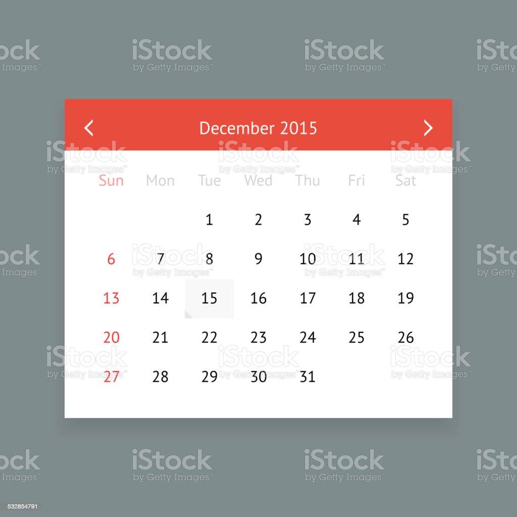 Kalender Desember 2015