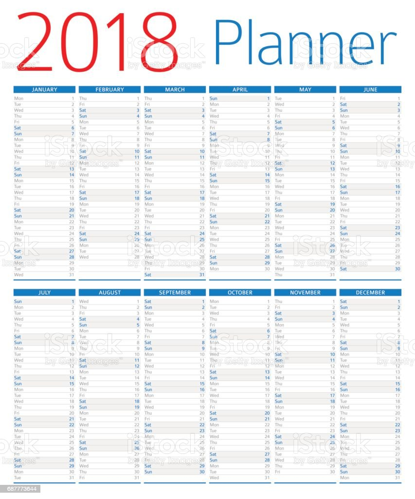 Calendar Planner Vector Free : Calendar planner stock vector art more images of