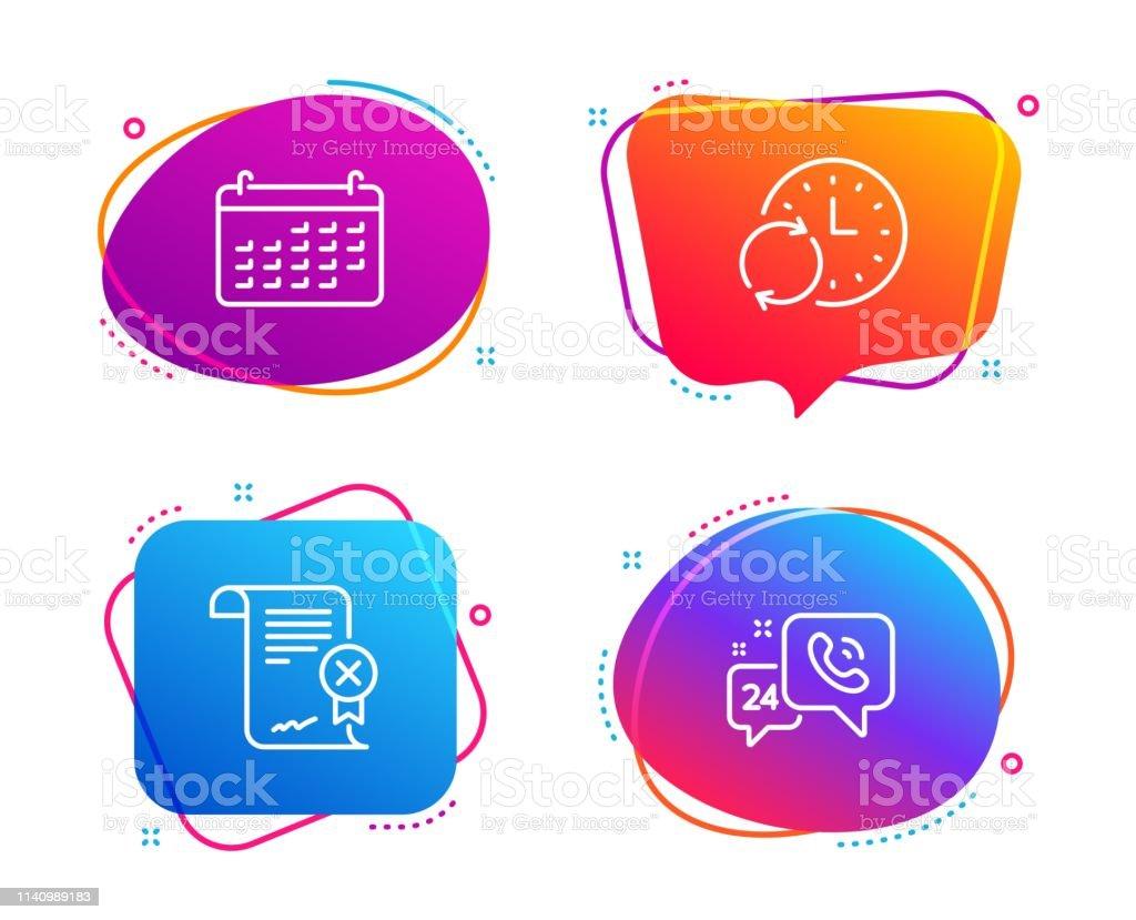 Actualizar Calendario.Ilustracion De Conjunto De Iconos De Calendario Rechazar