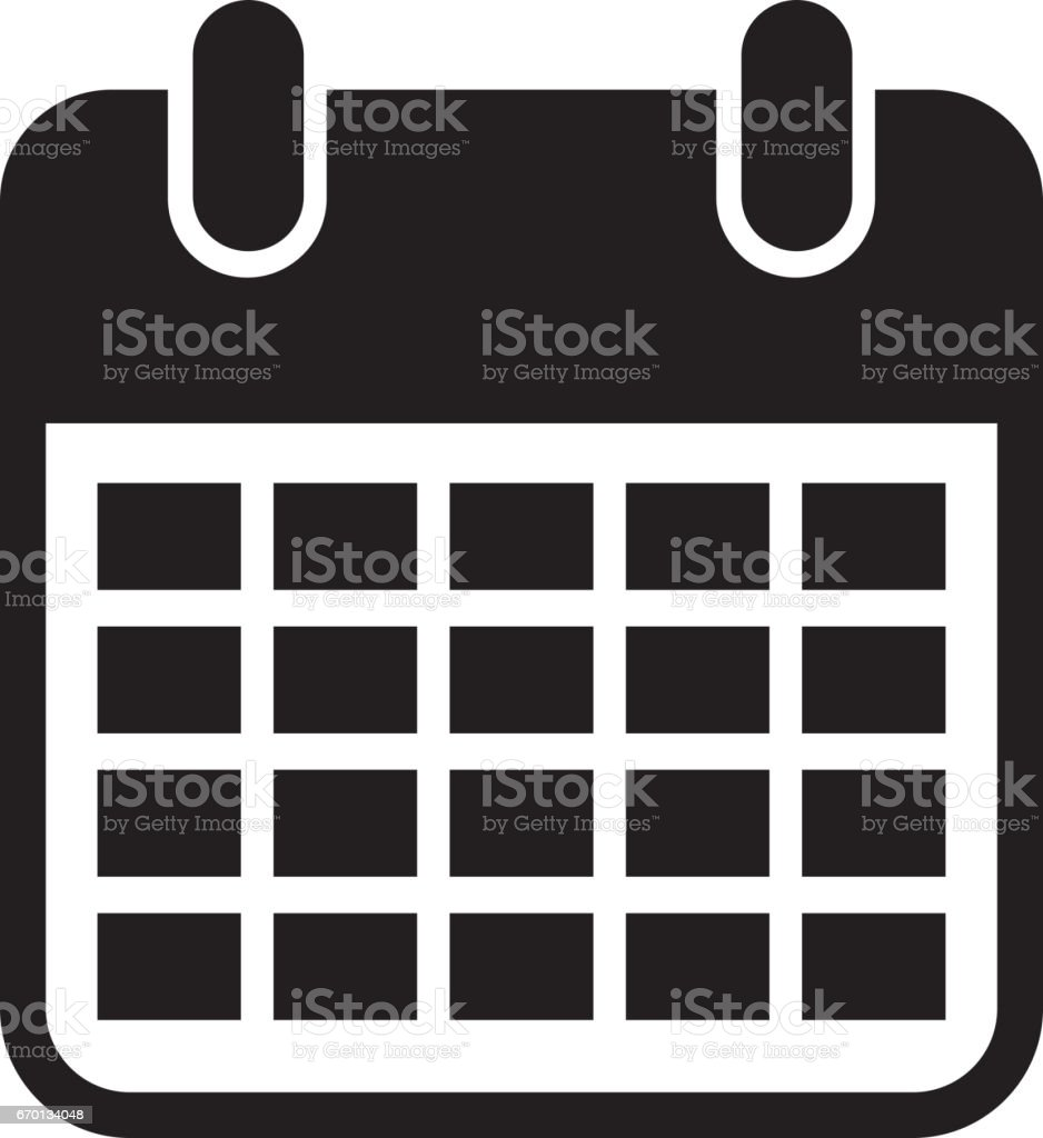 calendar reminder isolated icon vector art illustration