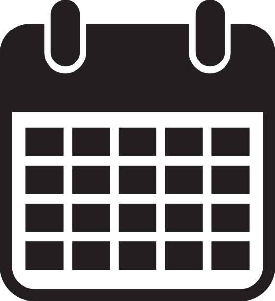 カレンダー アラーム分離アイコン - カレンダー点のイラスト素材/クリップアート素材/マンガ素材/アイコン素材