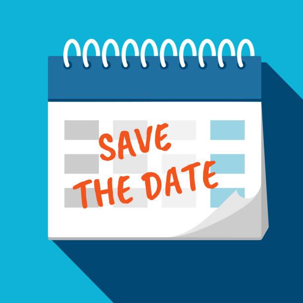 kalender - speichern sie das datum. planung. zeitmanagement. - save the date stock-grafiken, -clipart, -cartoons und -symbole