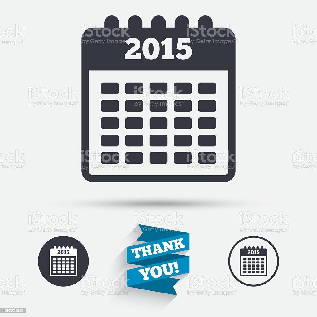 Calendar sign icon. Date or event reminder. vector art illustration