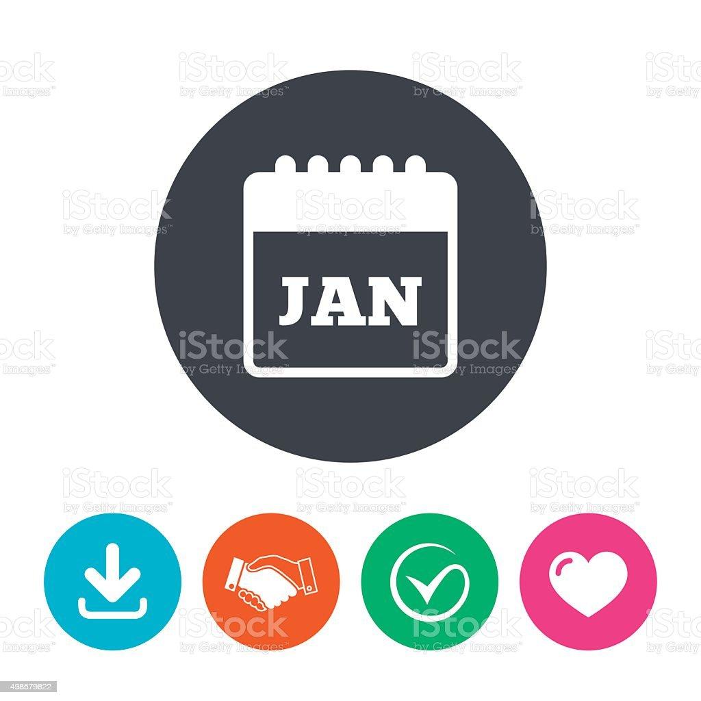 Simbolo De Calendario.Calendario Di Icona Mese Di Gennaio Simbolo Immagini