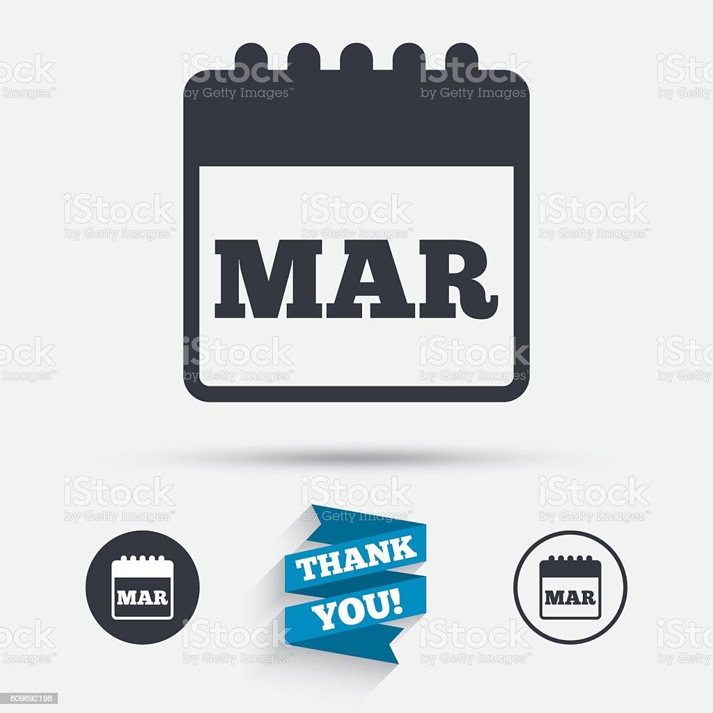 Simbolo Calendario.Calendario Di Icona Simbolo Mese Di Marzo Immagini